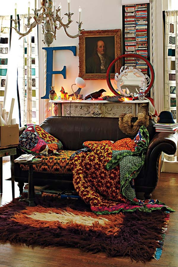 5. Bohemian-Chic-Living-Rooms-21-1-Kindesign