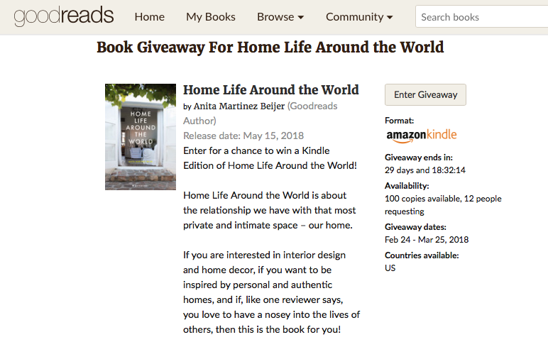 Enter for a chance to win Home Life Around the World